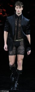 men's lace shorts