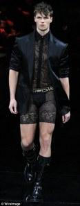 men's lace shorts